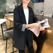 2019 spring and Autumn New Korean casual suit coat women's loose French British wind net red small suit trend