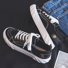 New canvas Korean student black fashion shoes