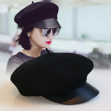 Autumn and winter, new products, red, the same duck, tongue, beret, wool, and military hat.