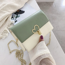 Bag women's bag 2019 new fashion summer Korean style simple one shoulder Crossbody contrast Sequin small square bag