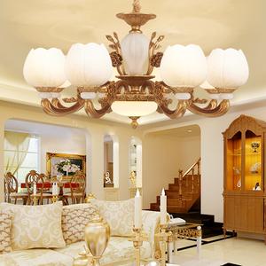 欧式锌合金吊灯客厅灯具大气别墅简欧美式吊灯复古客厅卧室餐厅灯吊灯