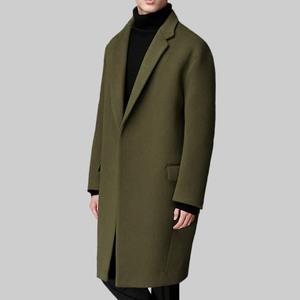 2017秋冬韩版加厚羊绒大衣男士 中长款宽松毛呢外套呢子大衣 男男士呢大衣