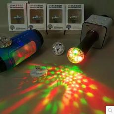 USB-светильник 蓝牙音箱麦克风电脑usb七彩霓虹灯直插即用声控闪烁节奏变色led灯