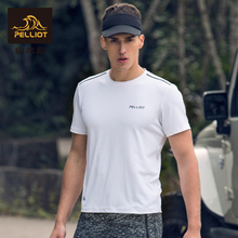 France Percy and outdoor dry clothes men and women summer moisture absorption, sweat, fitness, short sleeved running leisure sports T-shirt