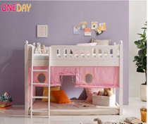 Special childrens pine wood bed low profile bed slides bed crib solid wood bed tent cot bed valance