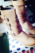not returned 2014 new winter boots women Martin boots thick with British low-heeled women's boots in Europe and America 888-6