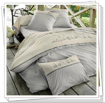 2015 spring new French pastoral dyed gray cotton embroidered set of four animal garden size