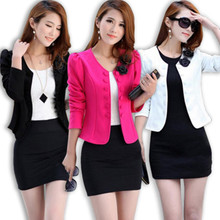 2017 spring new small suit short women's coat Korean slim big ol fashion small suit trend