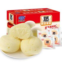 (CAT supermarket) gangrong steamed cake 1kg FCL shredded purple rice bread breakfast snack snacks