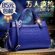 Nuevo 2014 señoras del verano bolsas de hombro portátil cocodrilo estrías diagonal Shu Europea y QYVSLTFC moda estadounidense