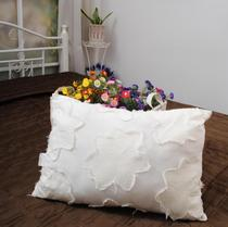 Trade bedding cotton with embroidered cloth sofa cushions pillowcase Office waist hug pillowcase 35*50CM