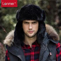 LANMER mens Lei Feng Cap Hat winter trend of the Korean version of warm old corduroy outdoor helmet