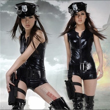 Sexy Leather Women's DS steel tube stage photo suit racing suit