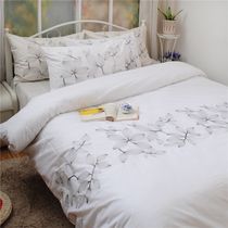 Original quality of foreign trade export white cotton embroidered bedding set of four 1.8 m bed 220*240CM leaves