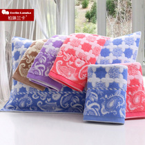 Thicken more soft and comfortable cotton pure cotton pillow cartoon couple towel used a pair of genuine wholesale
