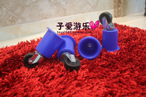 Nursery bed wheel caster wheels blue