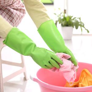厨房护肤耐用清洁手套橡胶洗碗手套防滑家务手套洗衣刷碗防水手套家务手套