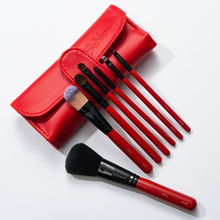Beginner makeup brush set full set of horse hair cosmetic tools, eye shadow brush, eyebrow brush, blemish blush, powder powder brush.