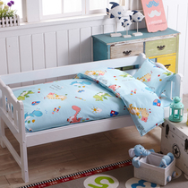 Kindergarten NAP cotton three piece cotton quilt bedding cotton baby six sleeve including core cartoon 60x120 bed