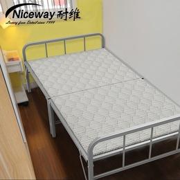 耐维木板床硬板简易折叠床单人床午休床午睡床出租房铁架陪护家用