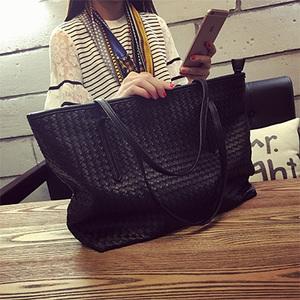 2016新款欧美购物袋简约编织大包托特包百搭女士手提包单肩包女包手提包