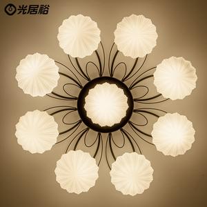 现代简约客厅灯创意LED卧室灯餐厅灯大气美式乡村圆形吸顶灯具饰吸顶灯