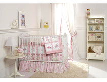 United States original premium surrounding baby crib bed Mikasa four-piece cotton bed skirt care raised thickened