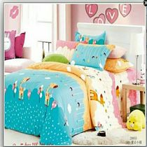 Sheets single single double cotton twill cotton cartoon child 1.5m1.8 2.0 m dormitory sheets
