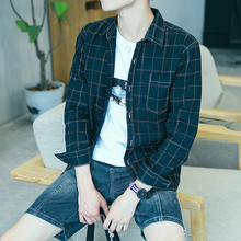 New Plaid trend long sleeve inch clothes