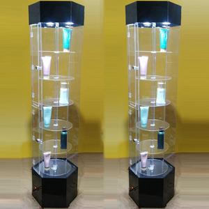 亚克力首饰品礼品手机珠宝样品玻璃展示柜旋转化妆品牙模精品展柜手机展示柜