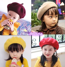 Children's cap 1-3-6-year-old boys and girls' Beret spring and autumn winter Princess cap big kids' girls' wool cap