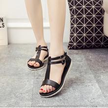 Flat sole simple Roman slip on plastic jelly shoes