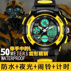 手表男儿童电子表小学生男童数字式韩版简约潮流夜光运动防水男孩儿童手表