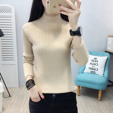 Semi high collar, new style in autumn and winter with knitted foreign style sweater