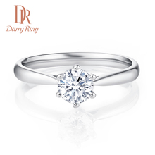 DR Darry Ring One Carat Diamond Ring Customized Counters Genuine Jewelry Six Prongs Marriage Wedding Rings