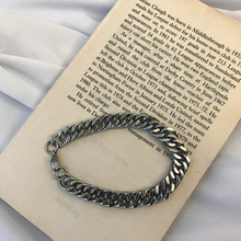 19 STUDIO Korean Ins Simple Couple Jewelry Hand Decoration Snake Bone Chain Metal Titanium Steel Bracelet for Men and Women