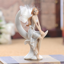European style ornaments, home furnishings, decorations, beautiful, fresh characters, wedding room, resin, moon and angel, 89