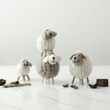 Ins Nordic home girl room, bedroom decorations, sheep ornaments, living room, porch, creative tabletop display