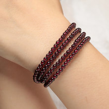 Crystal stage red garnet Pearl Bracelet women's fashion accessories trend Bracelet life year transfer accessories
