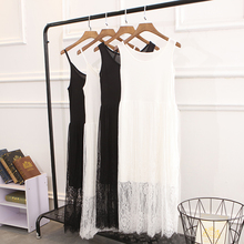Korean version with medium and long suspender waistcoat and student's bottom dress
