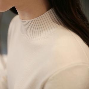 秋冬季女装打底衫长袖半高领针织衫修身纯色韩版百搭套头毛衣女秋冬女装