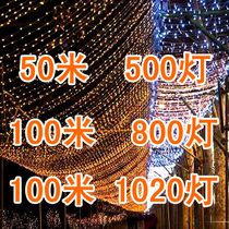 LED lights flashing light string light 100 m wedding holiday Christmas tree lights lights lamp waterproof outdoor star lights