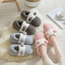 Home winter bag with cotton slippers, female winter moon, lovely couple home autumn winter winter indoor postpartum cotton shoes wool