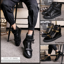High metal leather, fashion lovers, European and American men's shoes