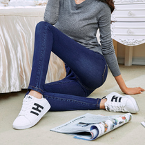 Korean version of the slim stretch women students in the fall denim skinny jeans