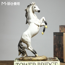 European style home furnishings, living room, wine cabinet decoration, creative office decoration, Nordic TV cabinet, horse ornaments.