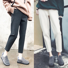 Spring and autumn thickened leisure trousers