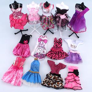 30CM换装芭芘比娃娃套装洋娃娃时尚衣服装时装裙子礼服短裙婚纱芭比娃娃