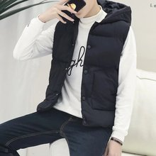 Fall and winter trend hooded sleeveless vest
