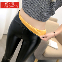 New pencil leather pants in black in autumn and winter